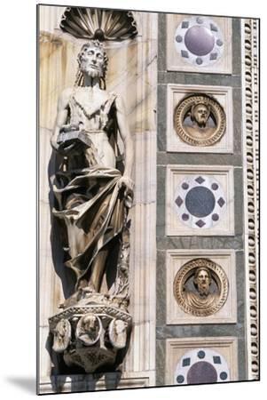 Certosa Di Pavia, Facade, Saint John the Baptist, Sculpture, Pavia, Lombardy, Italy--Mounted Giclee Print