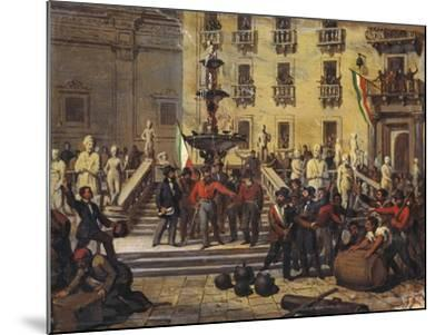 Expedition of Thousand, Giuseppe Garibaldi in Pretoria Square in Palermo, June 1860--Mounted Giclee Print