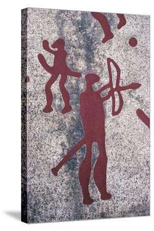 Sweden, Vastra Gotaland County, North of Bohuslan, Rock Carvings in Tanum or Tanumshede--Stretched Canvas Print