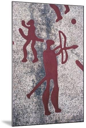 Sweden, Vastra Gotaland County, North of Bohuslan, Rock Carvings in Tanum or Tanumshede--Mounted Giclee Print