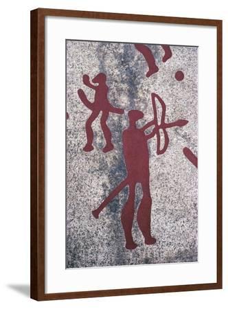 Sweden, Vastra Gotaland County, North of Bohuslan, Rock Carvings in Tanum or Tanumshede--Framed Giclee Print