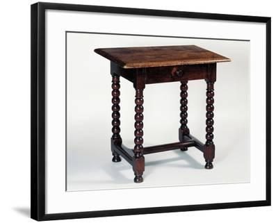 Louis XIII Style Oak Rustic Table, France--Framed Giclee Print