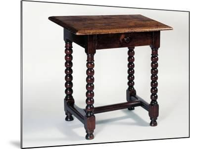 Louis XIII Style Oak Rustic Table, France--Mounted Giclee Print