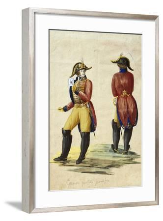 Italy, Uniform of Papal Courier--Framed Giclee Print