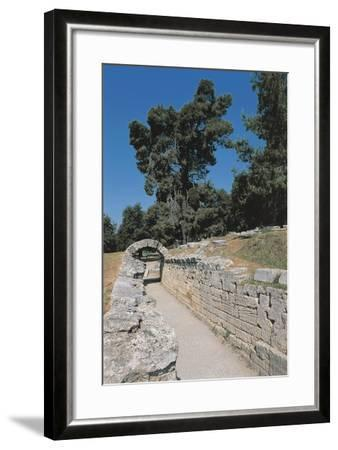 Old Ruins of an Archway, Olympia, Greece--Framed Giclee Print