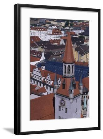 Tower of Old City Hall, Munich, Detail, Germany--Framed Giclee Print