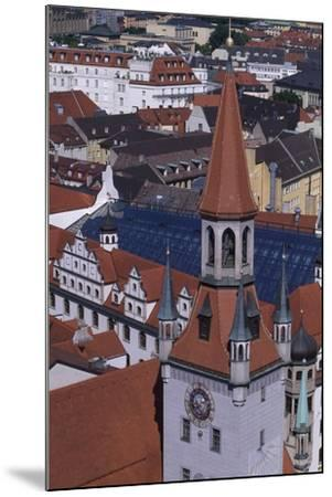 Tower of Old City Hall, Munich, Detail, Germany--Mounted Giclee Print