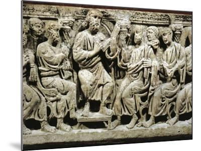 Marble Sarcophagus, Relief Depicting Jesus Christ Teaching Apostles, from Rignieux-Le-Franc--Mounted Giclee Print