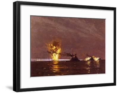 Battle of Cape Matapan, March 28, 1941, World War II, Greece--Framed Giclee Print
