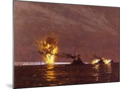Battle of Cape Matapan, March 28, 1941, World War II, Greece--Mounted Giclee Print