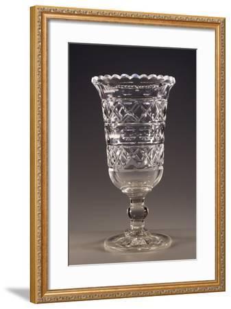 Beveled Crystal Wine Glass, England--Framed Giclee Print