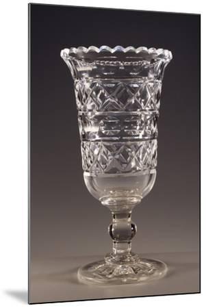Beveled Crystal Wine Glass, England--Mounted Giclee Print