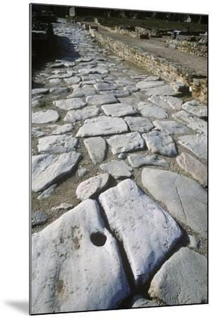 France, Rhone-Alpes, Roman Colony St-Romain-En-Gal, Stone Paved Road--Mounted Giclee Print