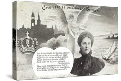 Künstler Kronprinzessin Luise, Schuldvergebung,Engel--Stretched Canvas Print