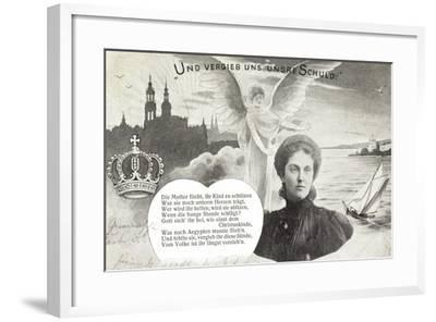 Künstler Kronprinzessin Luise, Schuldvergebung,Engel--Framed Giclee Print