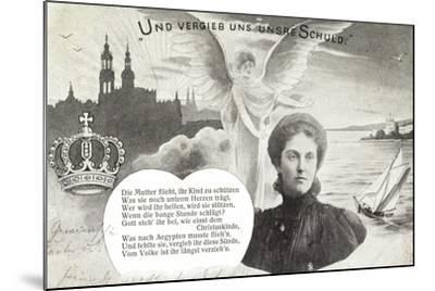 Künstler Kronprinzessin Luise, Schuldvergebung,Engel--Mounted Giclee Print