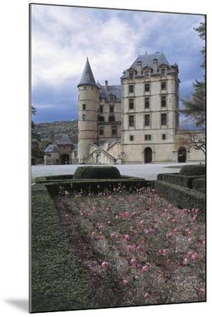 Formal Garden in Front of a Castle, Vizille Castle, Rhone-Alpes, France--Mounted Giclee Print
