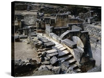 Sacred Spring in Ruins of Glanum, Saint Remy De Provence, France BC--Stretched Canvas Print