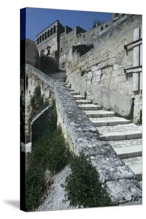 Italy, Basilicata, Matera, Sassi Rock-Cut Dwellings--Stretched Canvas Print