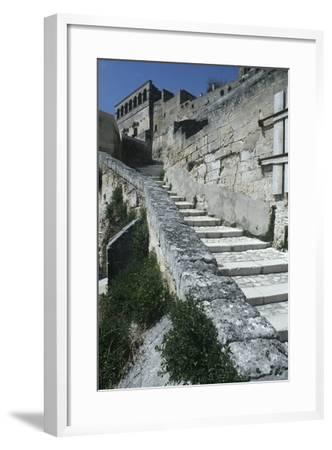 Italy, Basilicata, Matera, Sassi Rock-Cut Dwellings--Framed Giclee Print