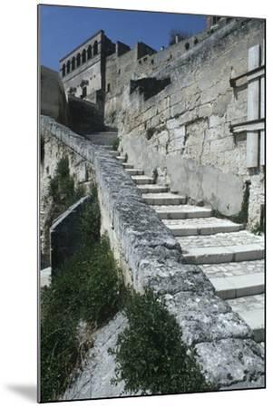 Italy, Basilicata, Matera, Sassi Rock-Cut Dwellings--Mounted Giclee Print