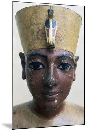 Head of Tutankhamun in Painted Wood, from Tomb of Tutankhamun--Mounted Giclee Print