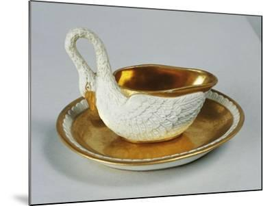Small Swan-Shaped Gravy Boat, Porcelain, Dagoty Manufacture, Paris, France--Mounted Giclee Print
