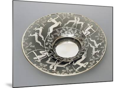 Electroplated Glass Plate with Hunting Scenes, 1930-1939, Italy--Mounted Giclee Print