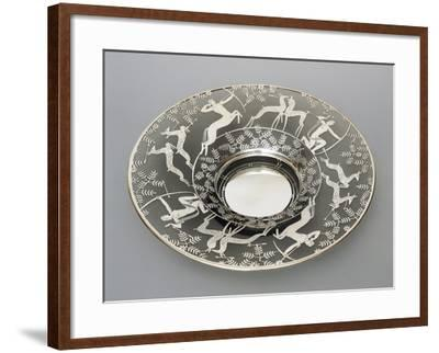 Electroplated Glass Plate with Hunting Scenes, 1930-1939, Italy--Framed Giclee Print
