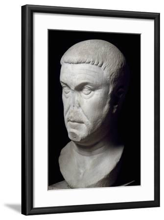 Head of Roman Emperor Maximian, 3rd Century--Framed Giclee Print