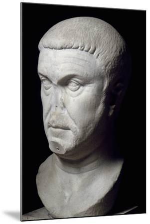 Head of Roman Emperor Maximian, 3rd Century--Mounted Giclee Print