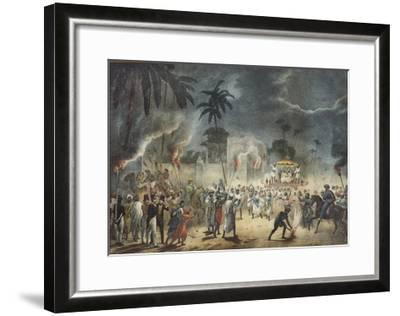 India, Night Party with Europeans in Attendance--Framed Giclee Print