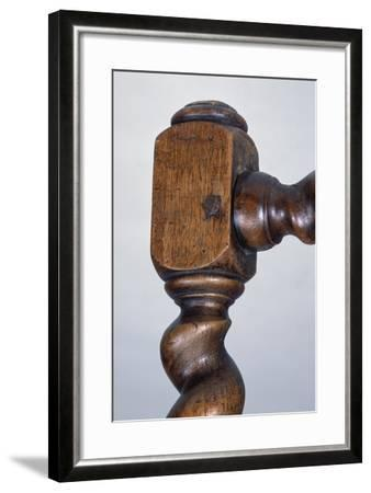 Louis XIII Style Walnut Chair with Armrests, France, Detail--Framed Giclee Print
