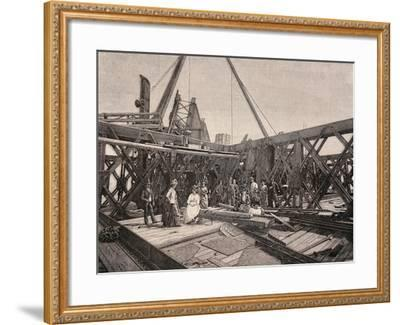Visitors on the Second Terrace of the Eiffel Tower, August, 1888, France--Framed Giclee Print