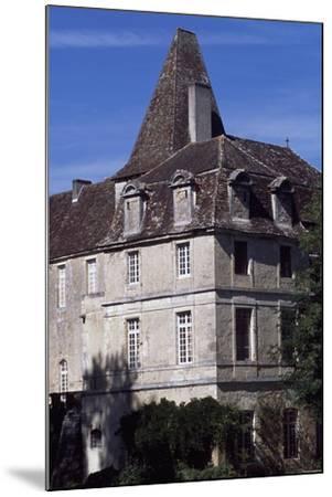 View of Chateau De La Marthonie, Saint-Jean-De-Cole, Aquitaine, France, 13th-17th Century--Mounted Giclee Print