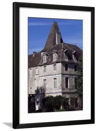 View of Chateau De La Marthonie, Saint-Jean-De-Cole, Aquitaine, France, 13th-17th Century--Framed Giclee Print