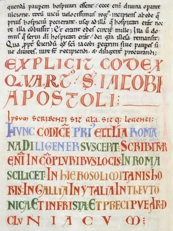 Illuminated Page from Calistino Code, Spain 12th Century--Framed Giclee Print