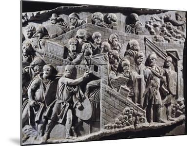 Cast of Trajan's Column, Detail of Decebalus, King of Dacians Gathering People--Mounted Giclee Print