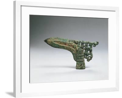 Halberd Axe Blade, Warring States Period--Framed Giclee Print