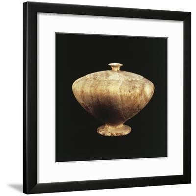 Amorite Origin Alabaster Jar with Lid, Artifacts from Ebla, Syria--Framed Giclee Print