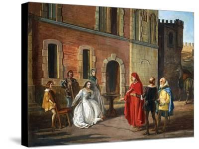 Count Lantieri De Paratico Introducing Dante During His Visit to Bornato Castle--Stretched Canvas Print
