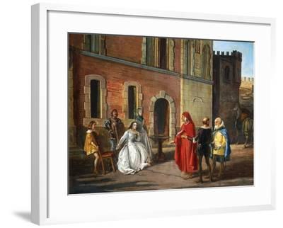 Count Lantieri De Paratico Introducing Dante During His Visit to Bornato Castle--Framed Giclee Print