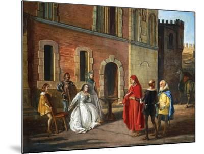 Count Lantieri De Paratico Introducing Dante During His Visit to Bornato Castle--Mounted Giclee Print