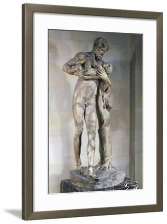 Statue of Silenus with Dionysus in His Arms--Framed Giclee Print