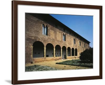 Glimpse of Facade, Villa Guinigi, Lucca, Tuscany, Italy--Framed Giclee Print