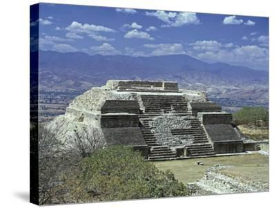 Mexico, Oaxaca State, Monte Alban Archaeological Site , Zapotec Civilization, Building M--Stretched Canvas Print