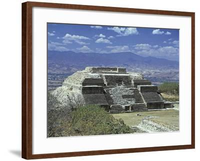 Mexico, Oaxaca State, Monte Alban Archaeological Site , Zapotec Civilization, Building M--Framed Giclee Print