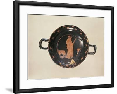 Red-Figure Attic Cup with Later Gold Trimming, from the Kleinaspergle Treasure--Framed Giclee Print