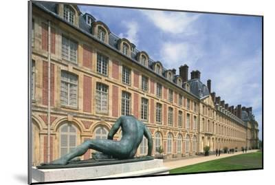 France, Seine Et Marne, Ile-De-France, Statue Outside Fontainebleau Castle--Mounted Giclee Print