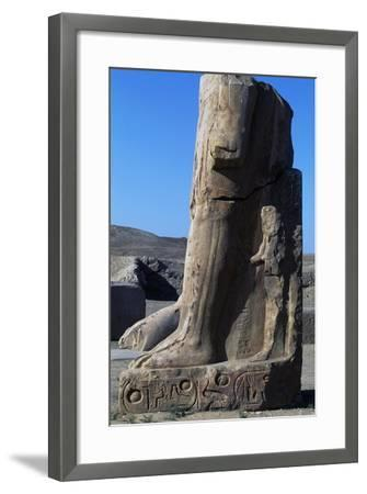 Base of Colossal Statue, Ruins of Great Temple of Amun, Tanis, Egypt--Framed Giclee Print